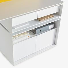 Thoughtful filing and storage are key to an efficient workspace. Minds at Work. Hum by Kimball Office.