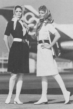 Olympic Airlines Stewardess Uniform by Pierre Cardin - Vintage Airliners