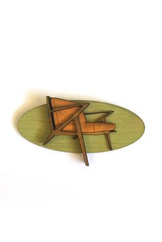 Wood MCM Chair Brooch || The Oblong Box Shop