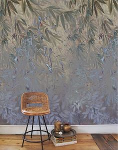 Shop Bamboo Breeze from Elli Popp in Wallpapers, available on Tictail from in Mica, Non Woven + Pearl, Non Woven + Matt Modern Home Interior Design, Luxury Homes Interior, Modern House Design, Chinoiserie, Bold Wallpaper, Bamboo Wallpaper, Wall Murals, Interior Decorating, Decorating Ideas