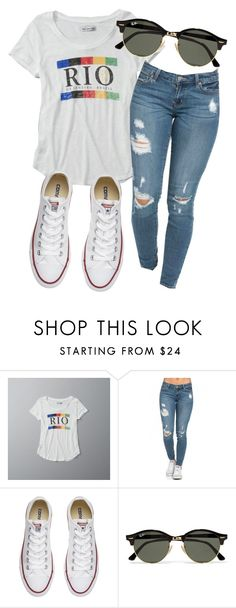 """""""Te Amo Rio!!!!"""" by eemaj ❤ liked on Polyvore featuring Abercrombie & Fitch, Converse and Ray-Ban"""