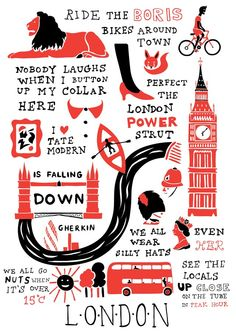 Heritage Current Co.: June 2011 London Illustration, Travel Illustration, London Map, London Pride, London Poster, Typography, Lettering, London Calling, Illustrations