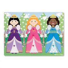 Melissa and Doug -Dress-Up Princesses Peg Puzzle 9 Pieces Puzzles For Toddlers, Princess Dress Up, Make Your Own Dress, Dress Card, Melissa & Doug, Musical Toys, Wooden Pegs, Wooden Puzzles, Puzzle Pieces