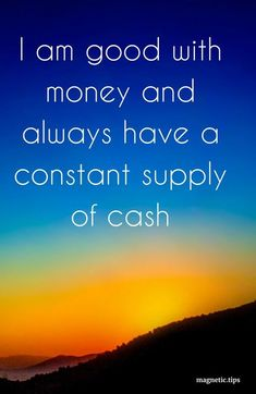 Money is energy, just like everything else in the universe. You don't make money but simply attract it by being on the same level of vibration. Read my blog post to discover how to manifest money into your life and become debt free! #manifestmoney #lawofattraction #positiveaffirmations