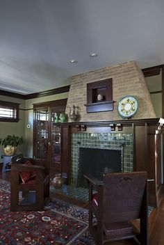 Tile Fireplace | arts and crafts | Craftsman | Mission | Bungalow