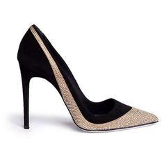 René Caovilla Suede Strass Pumps Fall 2014 - Die spektakulärsten Sylvester-Party Pumps 2014 #Shoes