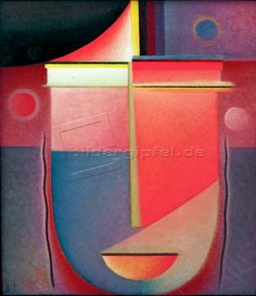 Alexej von Jawlensky  Abstrakter Kopf:   Inneres Schauen - Rosiges Licht, 1926, N.7