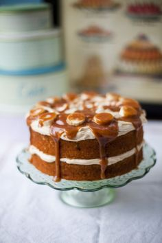 "From Donal Skehan's ""Home Cooked"", we bring you his Banoffee Cake recipe. Excuse us, as we just can't stop drooling over this divine cake! Pie Cake, Brownie Cake, No Bake Cake, Brownies, Bake Sale Recipes, Cake Recipes, Dessert Recipes, Banoffee Cake, Cake Flavors"