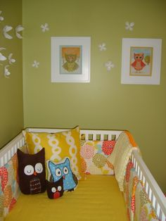 owl theme nursery, but not necessarily owl bedding. unique way to go