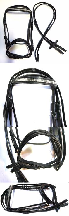Bridles 72579: Padded And Raised Black Leather Fancy Brow English Cob Bridle With Flash And Reins -> BUY IT NOW ONLY: $41.0 on eBay!