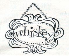Vintage Calvert Whiskey label