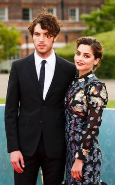 Tom Hughes and Jenna Coleman at the premiere of Victoria in August 2016
