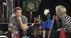 Glee's Matthew Morrison(Will Schuester) and Jane Lynch(Sue Sylvester) do rapid fire questions during their time in the Fox Glee Lounge. Camping or motel? Pirates or Ninja? See how they answer these tough questions!!!! haha