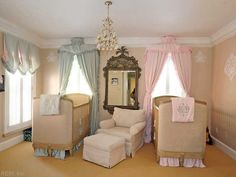 such a sweet nursery great idea for twins shows that you can have an elegant