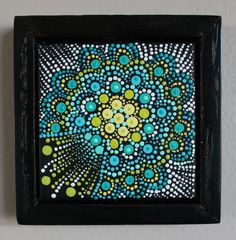 Dot Painting Acrylic Miniature Original Art by thedottedcanvas