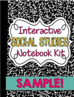 Interactive Social Studies Notebook Kit - FREE - these look really fun!