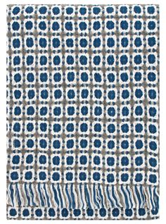 Lapuan Kankurit Wool blanket, woven in blue and grey - Trouva