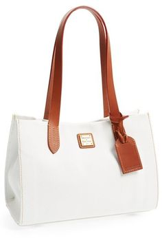 White and Brown Leather Tote Bag by Dooney & Bourke. Buy for $158 from Nordstrom