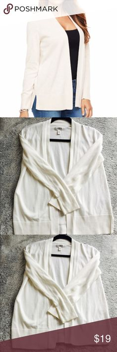 """Croft & Barrow White Knit Cardigan Croft & Barrow white knit cardigan like new condition. 60% Cotton, 38% Modal, 2% Other Fiber. Shoulder to hem is 22"""" long. Chest 19"""" across.  Offers Welcome for this item. croft & barrow Tops"""