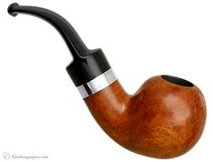 Danish Estate Tao and Ilsted Smooth Bent Apple with Silver (9mm) (Unsmoked) Pipes at Smoking Pipes .com