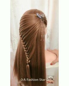 20 Cute Layered Hairstyles and Cuts for Long Hair in 2019 - Haarschnitt Mittellang Hairdo For Long Hair, Long Hair Video, Easy Hairstyles For Long Hair, Cute Hairstyles, Braided Hairstyles, Wedding Hairstyles, Layered Hairstyles, Hairstyles Videos, Hairdos