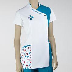 RMS-15052 Spa Uniform, Men In Uniform, Dental Uniforms, Baby Spa, Clinic Logo, Scrubs Outfit, Kurta Neck Design, Medical Scrubs, Dentistry