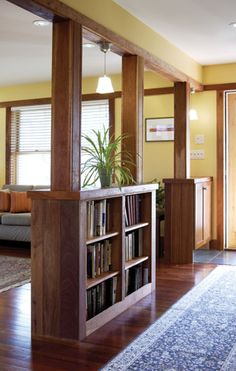 shelves built into columns accentmagazine.com