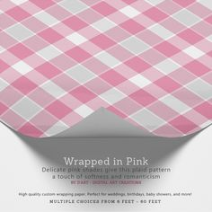 #plaid, #tartan, #squares, #romantic, #soft, #cute, #girly, #wrapping, #paper  #wrappingpaper #giftwrapping #zazzle #zazzler #zazzleshop #digitalartcreations