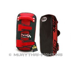 Twins Special Kicking Pads  Description   Twins Special Kicking Pads with velcro arm lock and top holder for quick fit and release. It has well foam padded with leather finished for heavy training. Sold as a pair.  Kick Pads size chart:  Please check the sizing table below    US$99.95