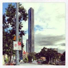 Great shot of our Meriton Serviced Apartments Brisbane on Adelaide Street!