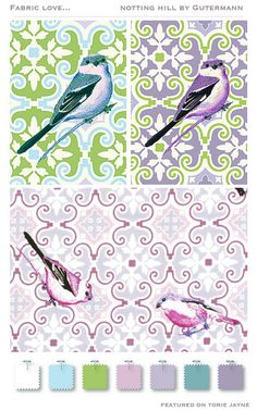 Notting Hill collection by Gütermann Notting Hill, Cotton Fabric, Colours, Bird, Color Palettes, Unique, Facebook, Collection, Fabrics