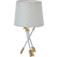 White & Gold Arrow Table Lamp
