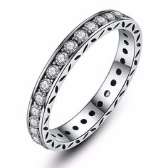 Sparkling Band Ring - Sterling Silver 925