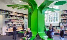 Love beautiful arcitectural details like this - School libraries shelve tradition to create new learning spaces