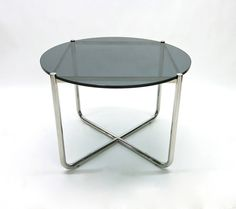 Pair of Side Tables by Marcel Breuer, Made in Germany, circa 1950 | From a unique collection of antique and modern side tables at https://www.1stdibs.com/furniture/tables/side-tables/