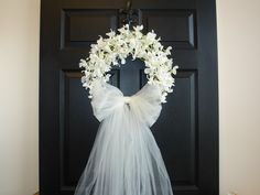 weddings door wreaths First Communion front door outdoors and garden decorations white ivory wreaths country french weddings, decor by aniamelisa on Etsy https://www.etsy.com/listing/221004051/weddings-door-wreaths-first-communion