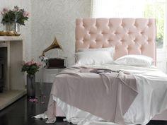 Girly glamour - The Foxtail upholstered in Harlequin Tembok Blush Satin