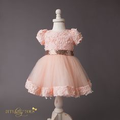 Princess Laura Dress - Itty Bitty Toes  - 4