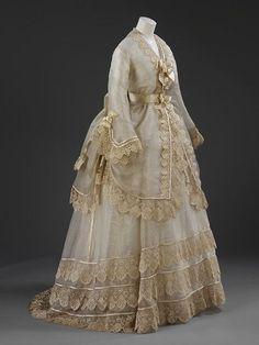 Silk Gauze Wedding Dress 1874