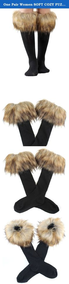 One Pair Women SOFT COZY FUZZY Raccoon Faux Fur Leg Warmers Sock Boot Cover. • Fashion, stylish, versatile, soft, stretch, and comfy • Material: Faux Fur There may be some fallen hairs attached during production, you may tap it slightly to remove the hairs • Size: Total Length: 28cm = about 11 inches. • Dry clean only. Do not wash,bleach or iron. Easily scrunched into boots • One pair per pack.