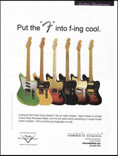 Fender Classic Series Telecaster Custom Thinline guitar 8 x 11 ad Coldplay Guitar Tips, Guitar Lessons, Fender Guitars, Ovation Guitars, Acoustic Guitar Case, Guitar Tattoo, Guitars For Sale, Guitar Collection, Happy Together