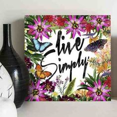 quadro decorativo live simply