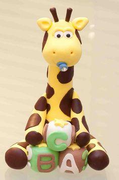 Goofy Little Giraffe Cake Topper. $15.00, via Etsy.