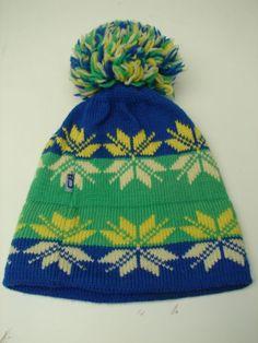 Vintage 70's 100 Wool CB Sports Ski Snowflake Hat w Pom Ball   eBay