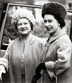 1968 Queen Elizabeth with the Queen Mother.