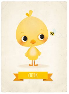 Chick art print, Easter illustration, cute animal decor, children's decor, child… - Easter Easter Illustration, Cute Animal Illustration, Illustration Children, Image Deco, Yellow Nursery, Animal Decor, Baby Prints, Cute Drawings, Nursery Art