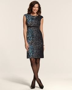 Chico's Ombre Paisley Kelly Dress #chicos