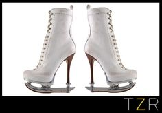 woah. high heel ice skates? i totally love this...but in a what-were-they-thinking-that's-insane type of way.