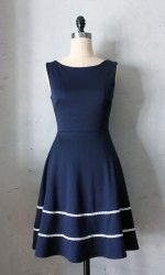 Coquette Dress in Navy