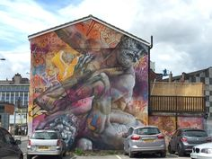 Touched by Gods: Street art in the Northern Quarter, Manchester Manchester Love, Manchester Street, Manchester England, New York Graffiti, Graffiti Art, Manchester Northern Quarter, 11th Century, Tower Of London, Urban Art